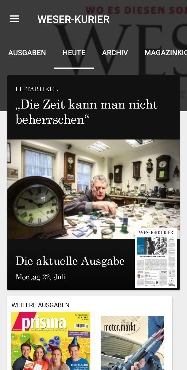 E-Paper App Android Heute Reiter